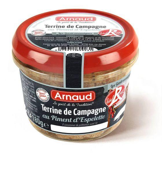 Label Rouge Terrine Campagne au Piment d´Espelette 180 gr.